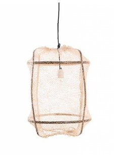 Ay Illuminate Z5 lámpara techo de bambú y tea sisal- marrón - Ø 42cm x h57cm