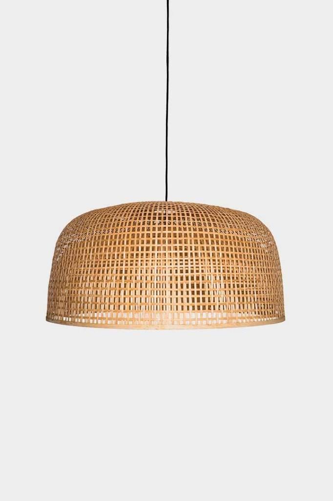 Ay Illuminate Lámpara de techo de bambú Doppio Grid - Natural - Ø80x41cm - Ay illuminate