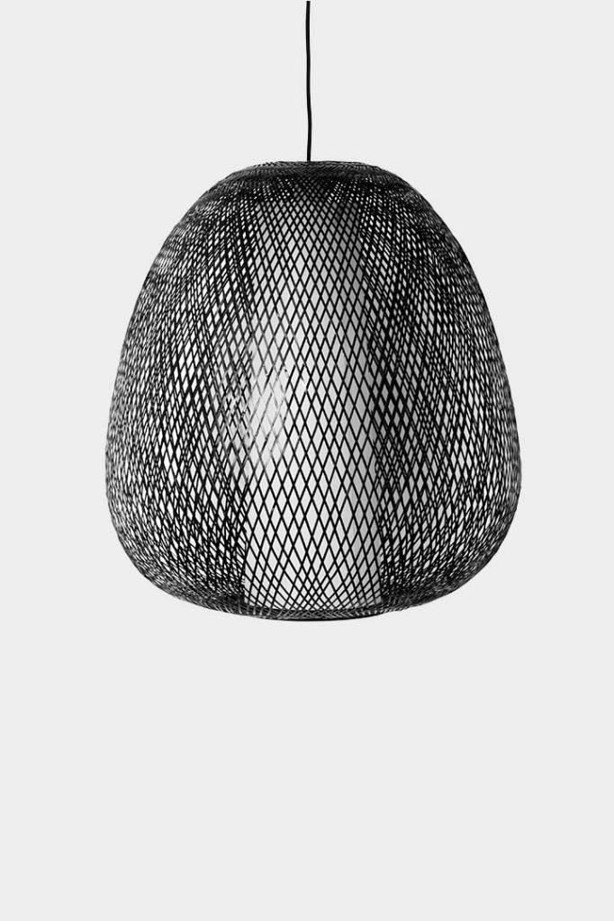 Ay Illuminate Lámpara de suspensión de bambú Twiggy EGG - Marrón -  Ø60cm - Ay Illuminate