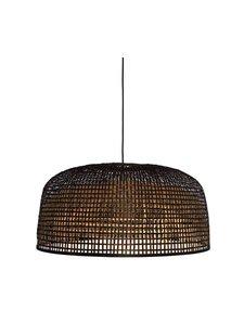 Ay Illuminate Lámpara de techo de bambú Doppio Gris - oscuro - Ø80x41cm - Ay Illuminate