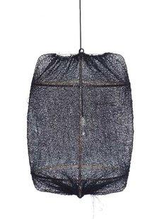 Ay Illuminate Lámpara de techo Z1 en bambú sisal negro- Ø67x100cm - Ay Illuminate