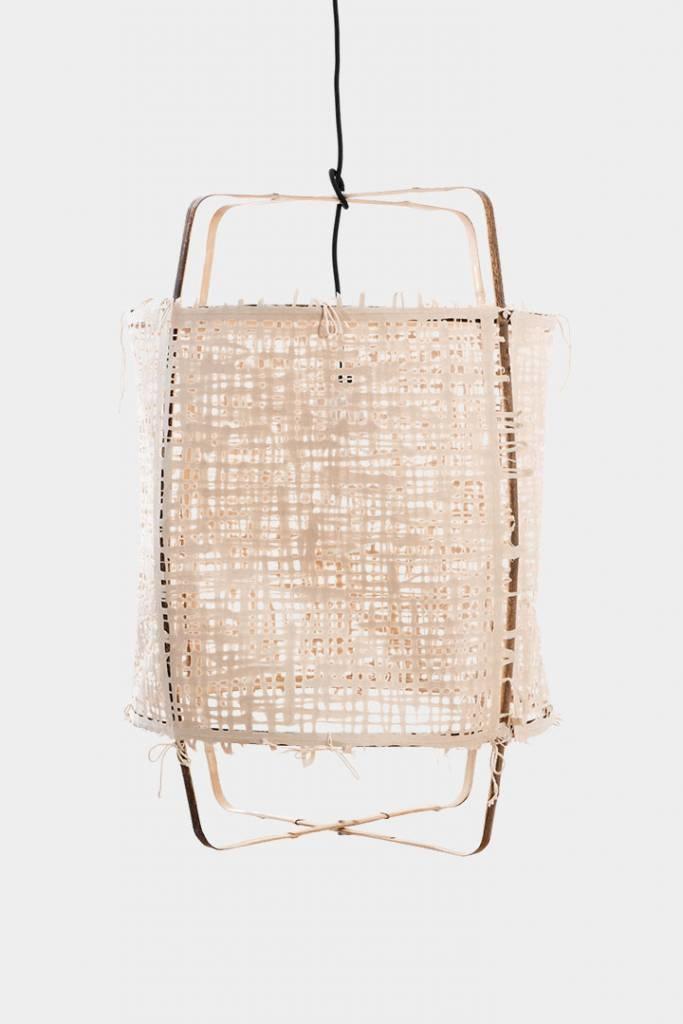 Ay Illuminate lámpara Z11 Negra de bambú y papel natural - Ø48.5 H72.5cm - Ay illuminate