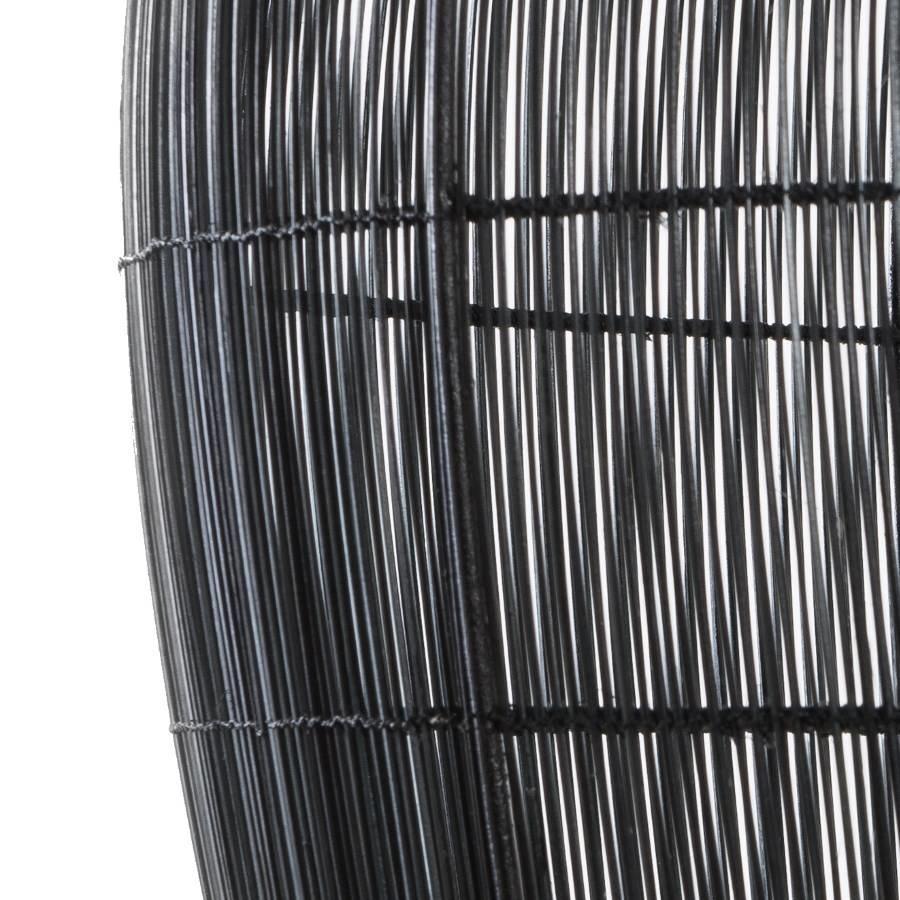 Ay Illuminate Lámpara Bell Buri de fibra de palma - noir - Ø85xh85cm - Ay Illuminate