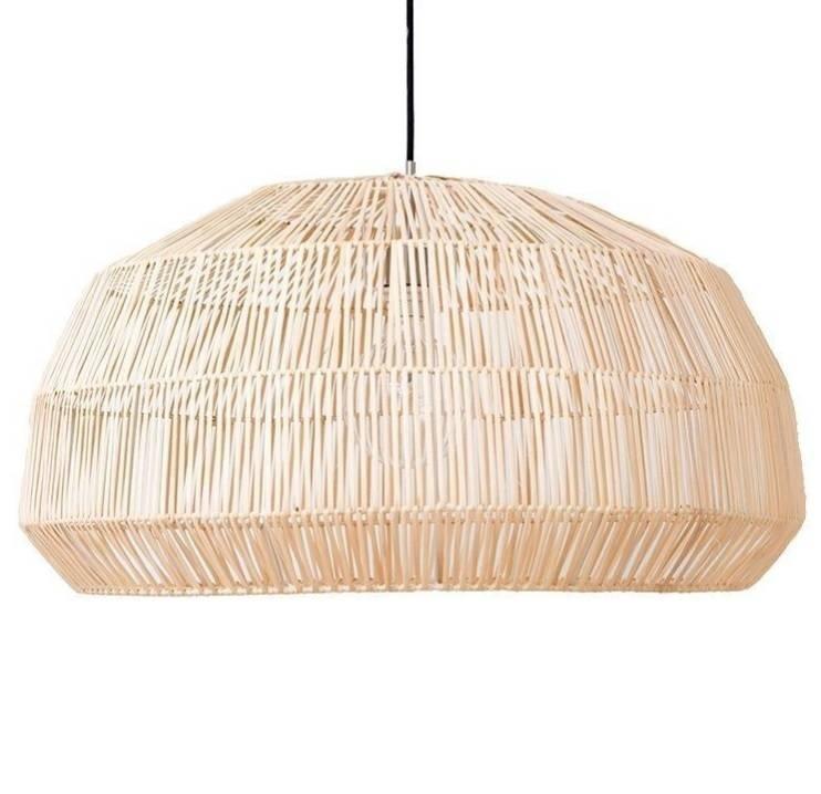 Ay Illuminate Lámpara de ratán Nama1 - natural - Ø73x38 - Ay Illuminate