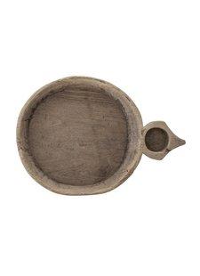 Bloomingville Cuenco de Madera India - Natural - L53xAltura8,5xW37cm - pieza única