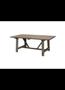Petite Lily Interiors Mesa de Comedor madera cruda - 200x100xh78H - Pieza única