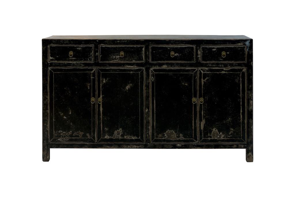 Snowdrops Copenhagen Sideboard Vintage - negro - Madera de Olmo - 152x42xh90cm
