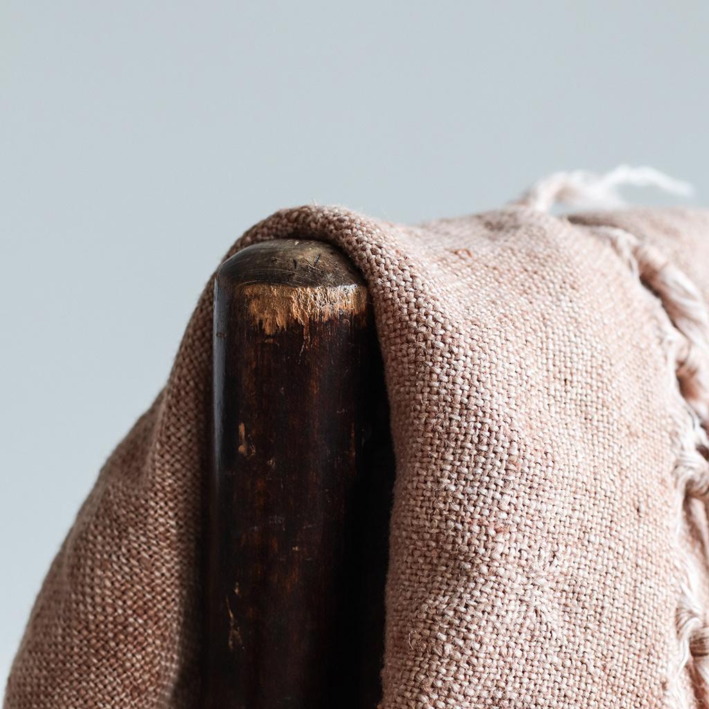 Tell Me More Colcha algodón de lino / Manta - Almendra / marron - 130x170cm - Tell Me More