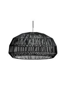 Ay Illuminate Lámpara de ratán Nama1 - negro - Ø73x38 - Ay Illuminate