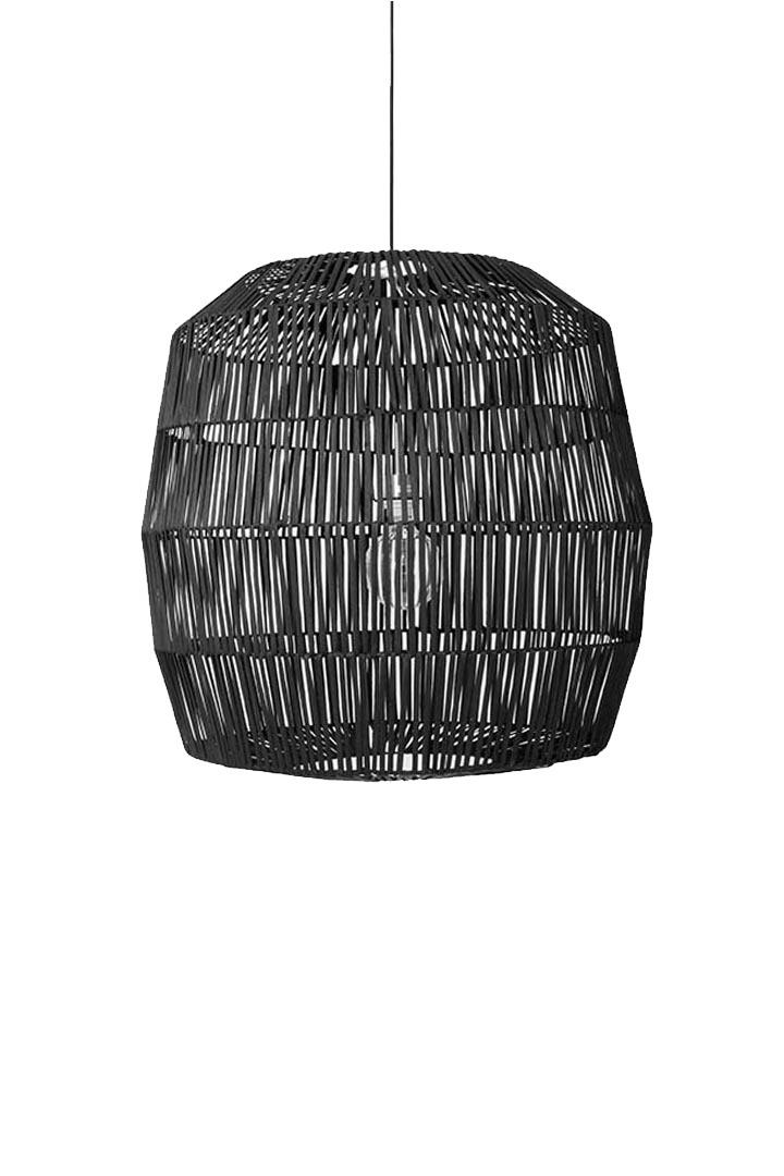Ay Illuminate Lámpara de ratán Nama 5 - negro - Ø78xh78 - Ay Illuminate