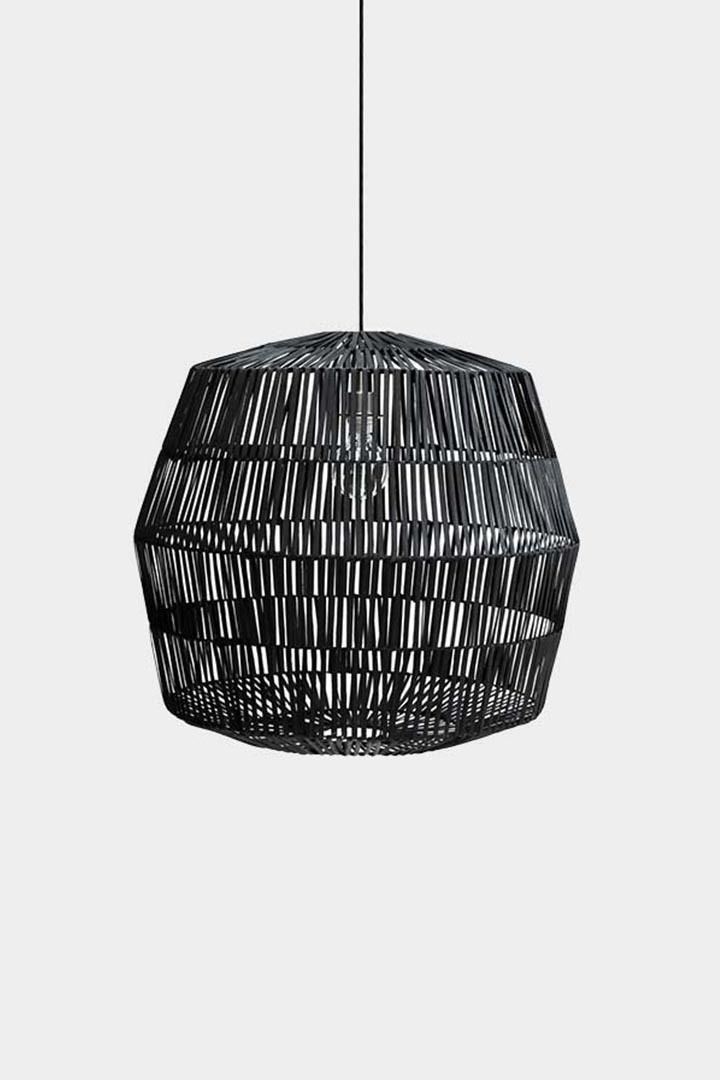 Ay Illuminate Lámpara de ratán Nama 4 - negro - Ø72xh64 cm - Ay Illuminate