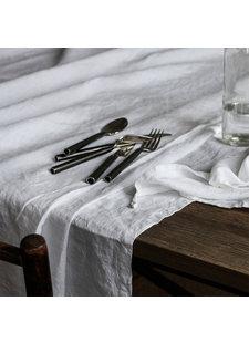 Tell Me More Mantel rectangular - 100% lino lavado a la piedra - 160x330cm - blanco - Tell Me More