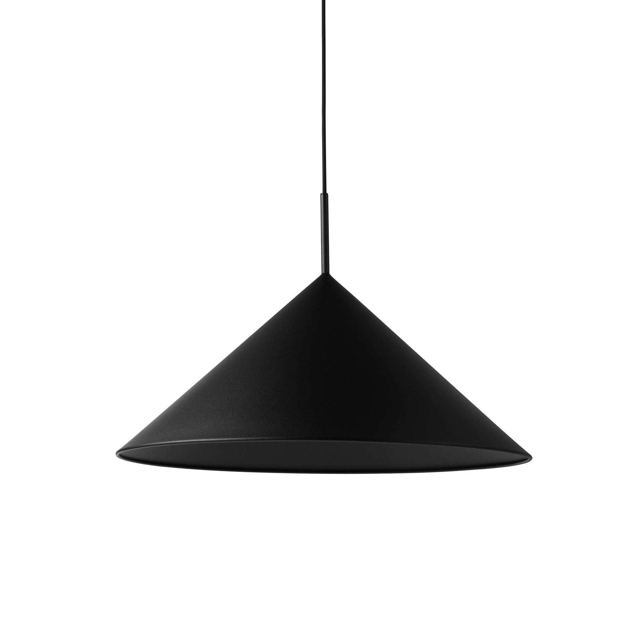 HK Living Lámpara Colgante triángulo - metal negro mate - Ø60x39cm - HK Living