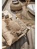 Bazar Bizar Cojín de rafia redonda - natural - Ø40cm