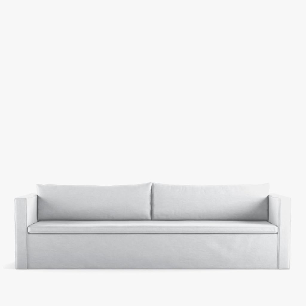 Petite Lily Interiors Sofá lino blanco - 290x94xH75cm