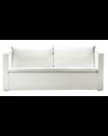 Petite Lily Interiors Sofá lino - blanco - 170-240x94xH44/75cm