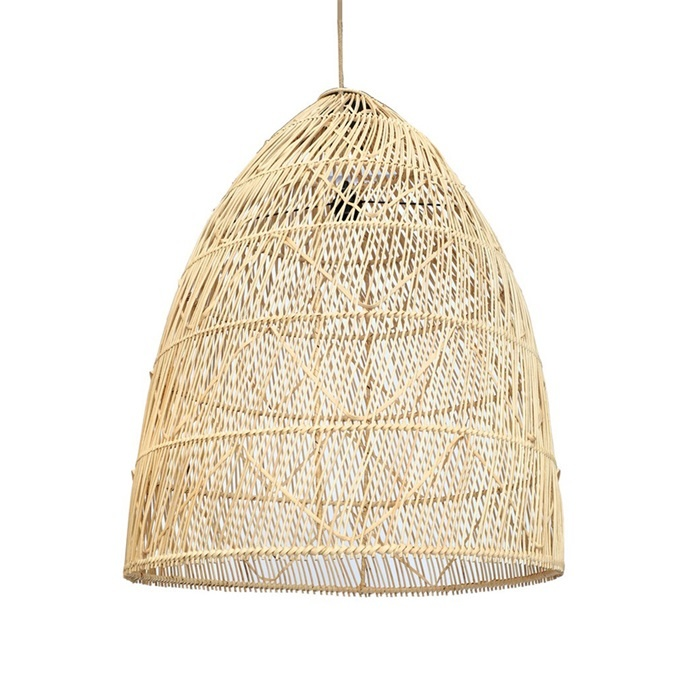 Bazar Bizar Lámpara de techo en rattan - natural - Ø50xH80