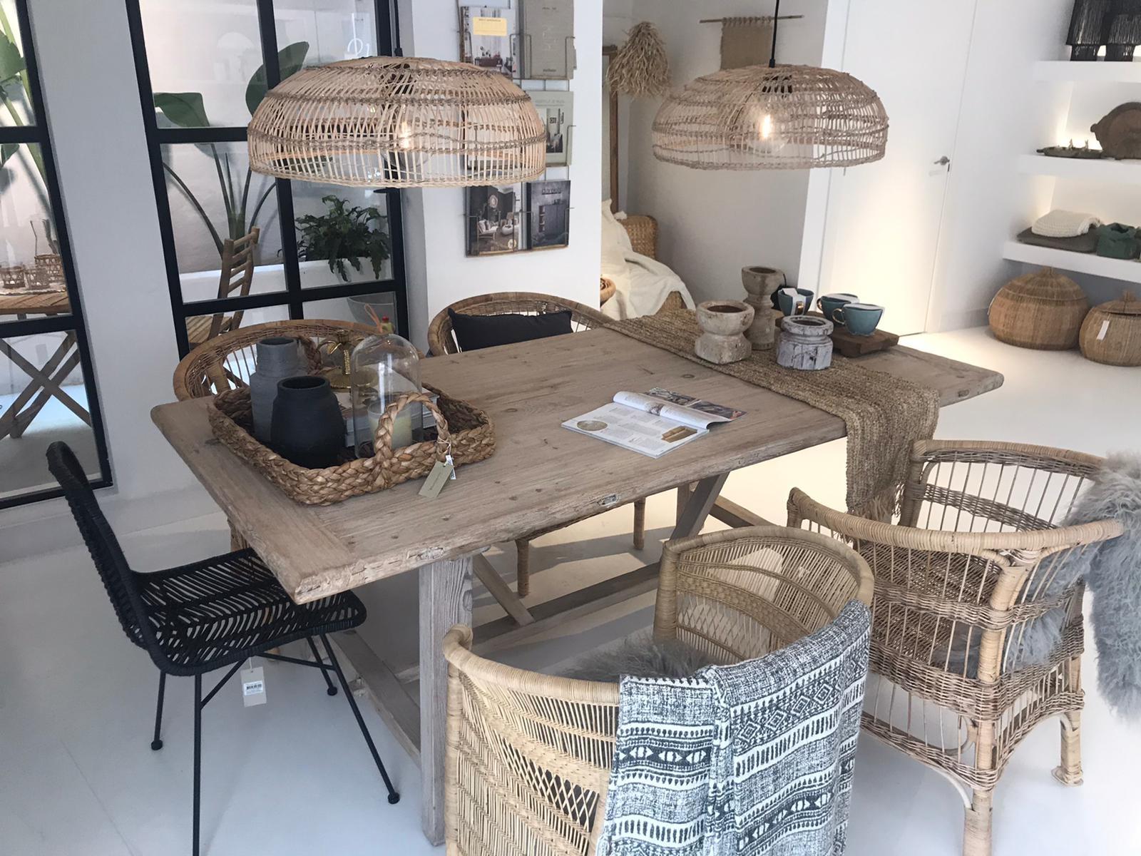 Petite Lily Interiors Mesa de Comedor madera cruda - 240x100xh78H - Pieza única