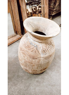 Petite Lily Interiors Maceta de madera India - Ø25xH40cm - Pieza Unica