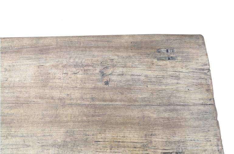 Petite Lily Interiors Mesa de Café de Madera de Olmo KANG - 88x46x27cm - pieza única