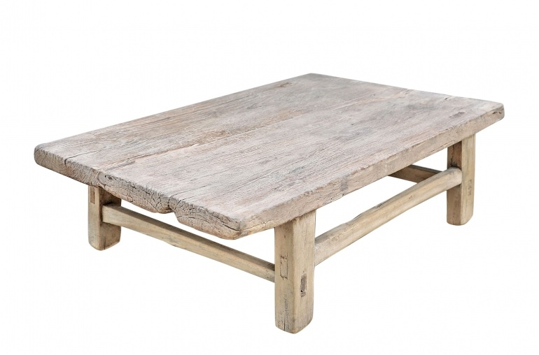 Petite Lily Interiors Mesa de Café de madera curda - 86x56x27cm - pieza única