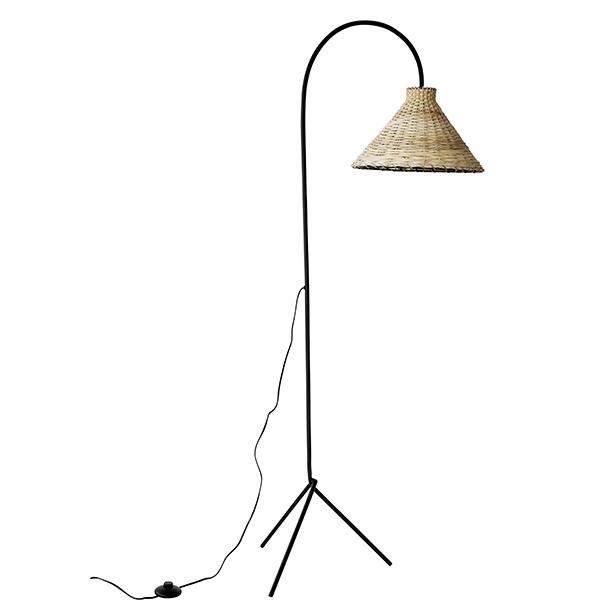 Snowdrops Copenhagen lámpara de pie de fibra de coco - natural - Ø35xh150cm - snowdrops Copenhagen