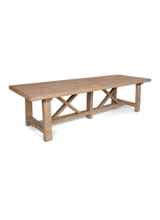 Petite Lily Interiors Mesa de Comedor madera cruda - 300x100xh78H