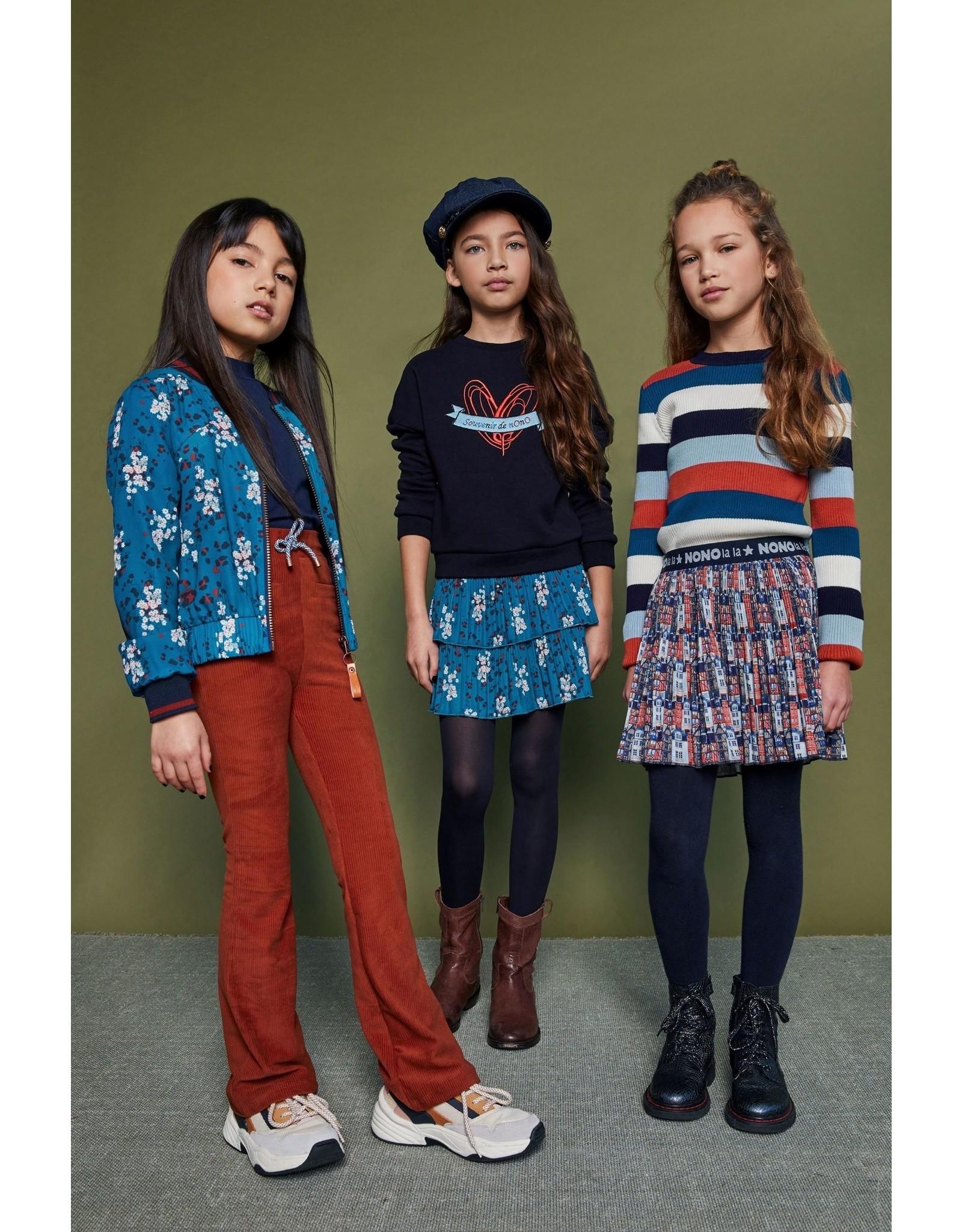 Nono NONO plissee short skirt 5705 rust