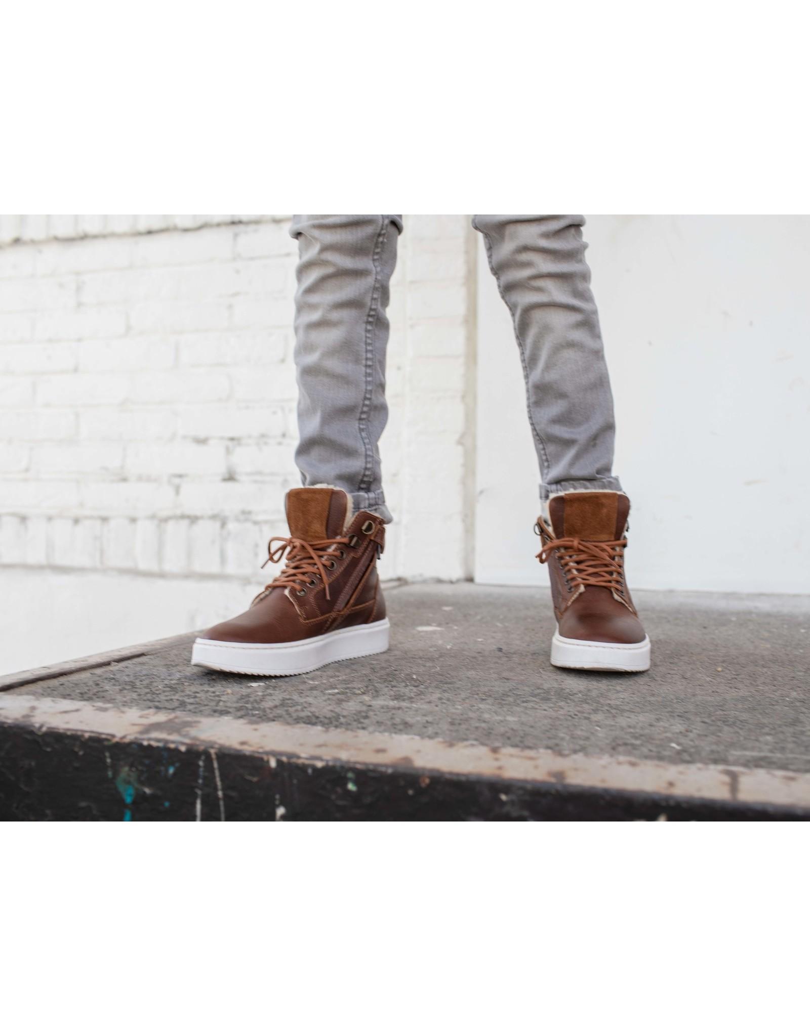 Quapi Quapi schoenen Hip Ken brown leather