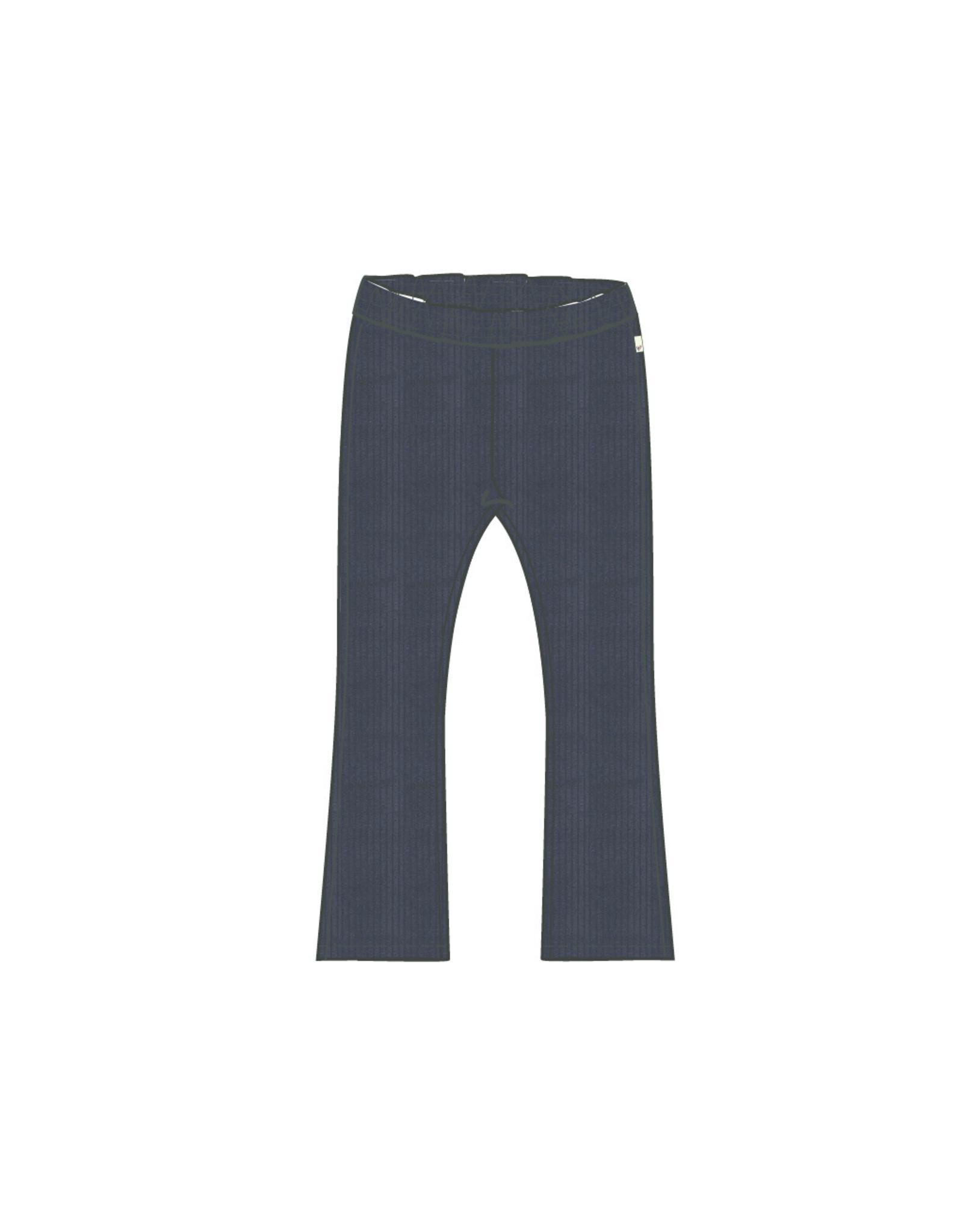 Moodstreet Moodstreet 5600 flared pants velours navy