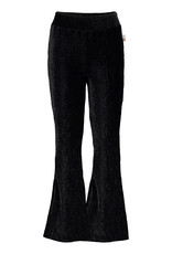 Moodstreet Moodstreet 5611 flared pants velours black