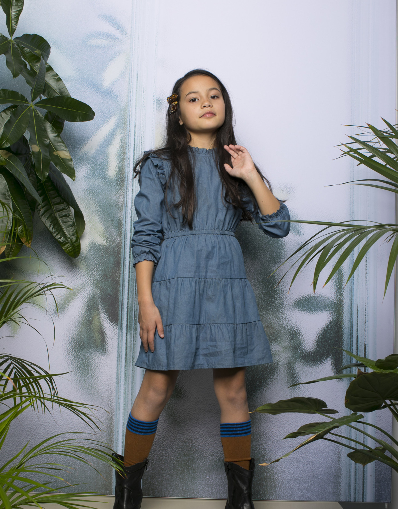 Moodstreet Moodstreet jurkje 5813 soft blue
