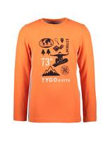 Tygo&Vito Tygo&Vito longsleeve 6446 shocking orange