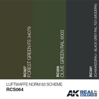 AK Interactive Real Color Set - Luftwaffe Norm83