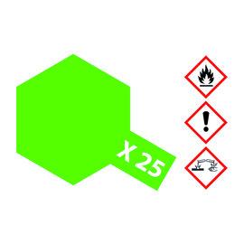 TAMIYA TAMIYA - X-25 Klar-Grün glänzend 23ml