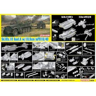 Dragon Sd.Kfz.10 und 10.5cm leichte Feldhaubitze 18/40 - 1:35