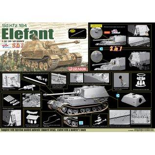 Dragon Sd.Kfz.184 Jagdpanzer Elefant (2 in 1 with Zimmerit) - 1:35