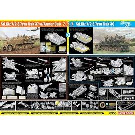 Dragon Dragon - Sd.Kfz.7/2 3.7cm FlaK 37 w/Armor Cab or Sd.Kfz.7/2 3.7cm FlaK 36 - 1:35