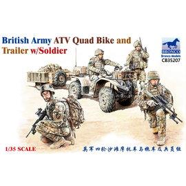 Bronco Models Bronco Models - British Army ATV Quad Bike and Trailer w/Soldier - 1:35