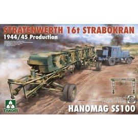 TAKOM TAKOM - Hanomag SS100 w/ Stratenwerth 16t Strabokran 1944/45 - 1:35