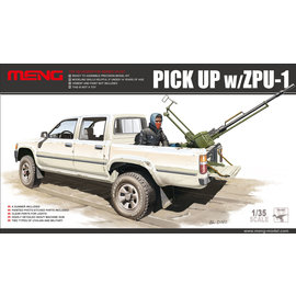 MENG MENG - Toyota Hilux Dual Cab Pick-up Truck w/ ZPU-1 AAA - 1:35