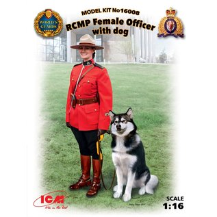 ICM RCMP (Royal Canadian Mounted Police) Female Officer with dog - 1:16