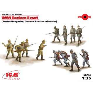 ICM WWI Eastern Front (Austro-Hungarian / German / Russian Infantry) - 1:35
