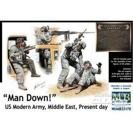 Master Box MB - Man Down! U.S. Modern Army, Middle east - 1:35