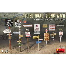 MiniArt MiniArt - Allied Road Signs WWII European theatre of operations - 1:35
