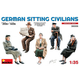 MiniArt MiniArt - Sitzende deutsche Zivilbevölkerung 30er-40er - 1:35