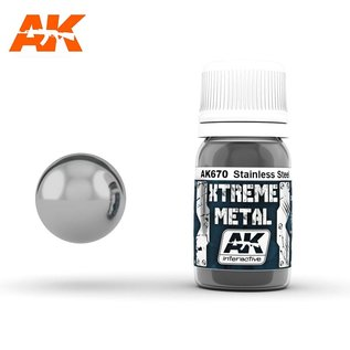 AK Interactive Xtreme Metal - Stainless steel