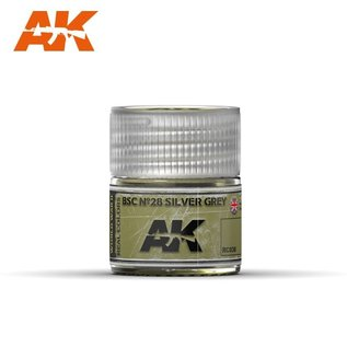 AK Interactive Real Colors - RC038 BSC Nº28 Silver Grey