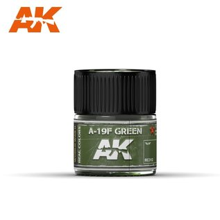 AK Interactive Real Colors Air - RC312 A-19F Grass Green