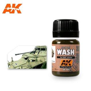 AK Interactive AK-066 WASH FOR AFRIKA KORPS VEHICLES